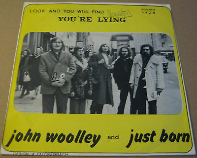"JOHN WOOLEY & JUST BORN - YOURE LYING - Belgium RONNEX 7"" P/S - HEAR"