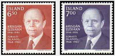 Timbres Personnages Islande 563/4 ** lot 18207