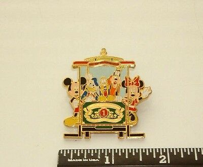 Disneyland Trolley With Characters Pin