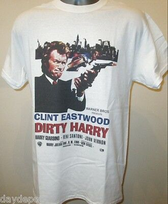 Dirty Harry 70s Film Poster T Shirt Clint Eastwood .44 Magnum Scorpio Zodiac 055