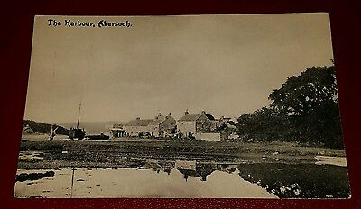 VINTAGE POSTCARD - THE HARBOUR, ABERSOCH - EARLY 1900's