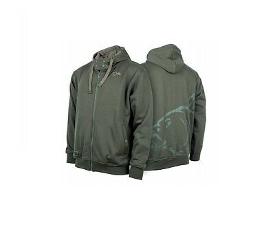 Nash Tackle NEW Carp Fishing Green Tracksuit Jacket Top Zip Hoody *All Sizes*