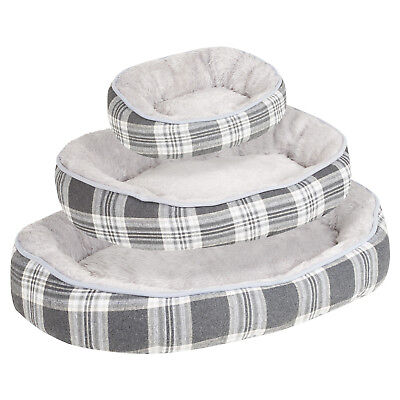 Me & My Pets Soft Grey Washable Dog/Puppy/Cat Pet Bed Thick Pillow/Cushion S/M/L