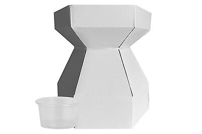 3 x White Bouquet Cupcake Box with 21 Holder Cups