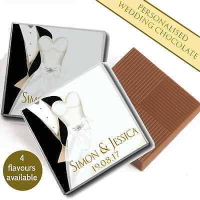 100 Personalised Chocolate Wedding Favours Mr & Mrs Table Decoration Pack