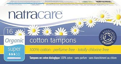 Natracare Organic Tampons With Applicator Super X 16