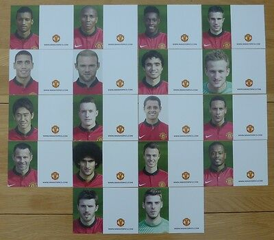 2013-14 Unsigned Man Utd Club Cards - Individually Priced