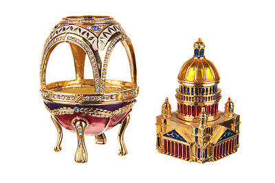 Russian Faberge Egg Saint Isaac's Cathedral Saint-Petersburg  4.1'' (10.5cm)