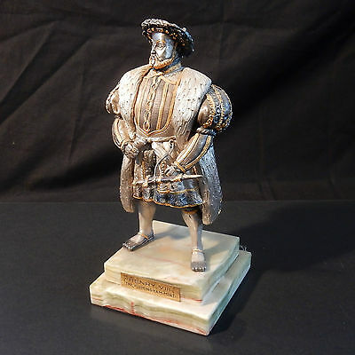 Limited Edition Royal Mint Henry VIII Bronze Gold & Onyx Sculpture