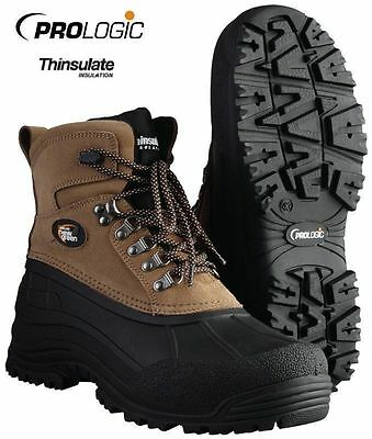 Prologic NEW Trax Green Winter Fishing Lined Boots *All Sizes*