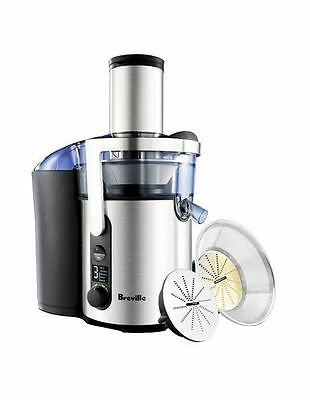 NEW Breville BJE520BSS The Froojie Fountain Juicer: Brushed Stainless Steel Grey