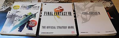 Final Fantasy 3,7 & 8 III VII VIII Official Strategy Guides Excellent Condition