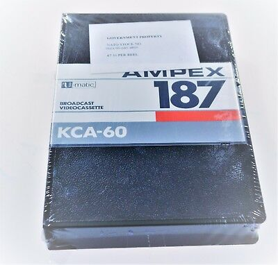 Ampex 187 KCA-60 Videocassette Pack of 3
