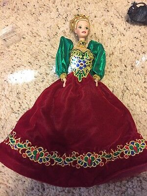 Holiday Jewel Porcelain Barbie, Doll Is Absolutely Stunning