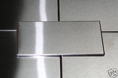 """12- 6"""" x 12"""" """" Stainless Steel Metal Kitchen Backsplash Tiles  made in the  USA"""