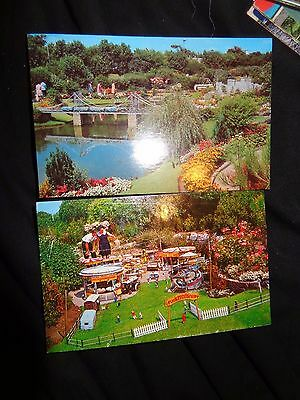 The Model Village Merrivale Great Yarmouth c1970 POSTCARDS X 2  unused B/S