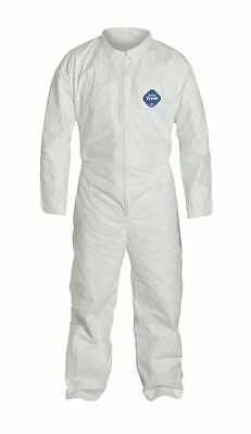 TY120 / XL  - Disposable Tyvek White Coverall Suit - Size X-Large