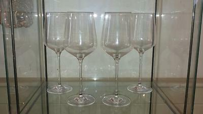 Set of 4 Superb Royal Doulton Crystal Bordeaux Ambience Large Red Wine Glasses