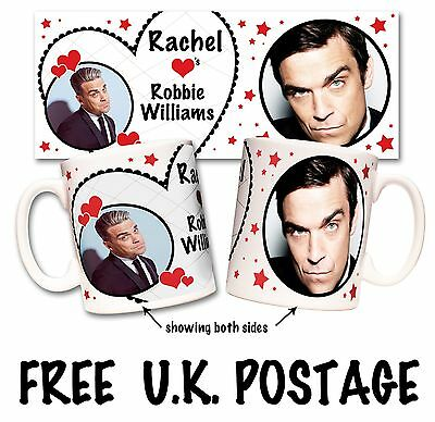 Personalised Robbie Williams Mug