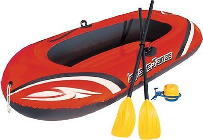 Bestway 77x45 Inches HydroForce Inflatable Raft Set with Oars and Pump | 61062E