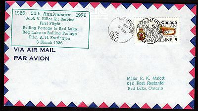 50th ANNIVERSARY RED LAKE ONTARIO TO ROLLING PORTAGE, HUDSON CANCEL (K2452)