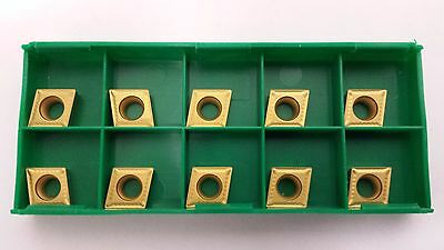 New World Products CCMT 32.51 EF2 M40k C7 CVD TiN Coated Carbide Inserts 10pcs