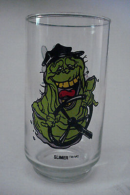 Vintage 1989 Ghostbusters II 2 SLIMER Promo Drinking Glass Columbia Pictures