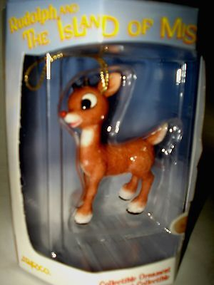 MINT Rudolph Red Nosed Reindeer XMAS TREE ORNAMENT Enesco ISLAND OF MISFIT TOYS