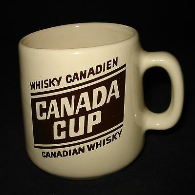 VTG Schenley Canada Cup Whiskey BAR ADVERTISING COFFEE MUG CUP White Oak Pottery