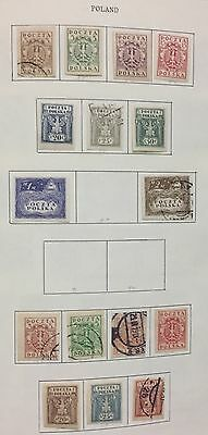 Poland 1919 Lot Set Of 6 V. Mlh* & Used For Description Look At The Picture Spl