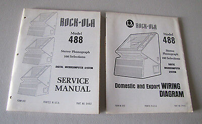Rock-ola 488 Jukebox Service Manual & Wiring Diagram 160 Select