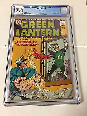 Green Lantern 23 Cgc 7.0 Off White To White Pages First Tattooed Man