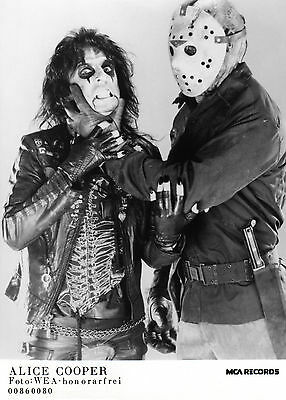 Alice Cooper & Jason Vorhees - Awesome Promo Press Photo 1987 - Friday the 13th