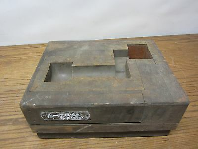 Vintage Wood and Metal Industrial Mold Foundry Mold 11 x 8