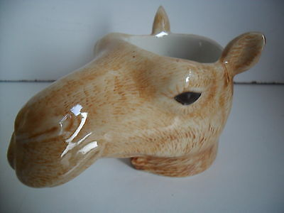 Unusual Camel Ceramic Egg Cup By Quail Pottery Boxed