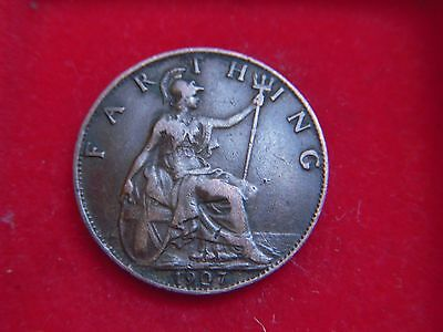 1907 Edward V11 Farthing From My Collection [H18]