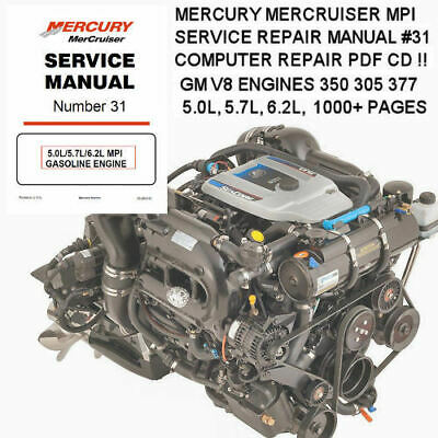 Mercury MerCruiser 350 305 377 Engine Motor Boat Repair Service Manual **Nice**