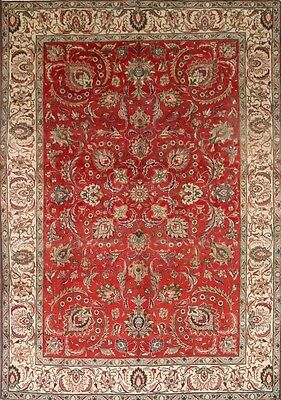 """Clearance! All-Over Antique 8x11 Tabriz Persian Oriental Area Rug 11' 6"""" x 8' 1"""""""
