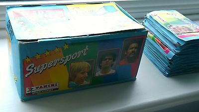92 Panini Supersport UK 1986/87 Unopened Packets + Empty Box - Great Condition