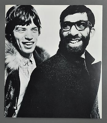 David Bailey Original 1965 Halftone Photo Print 32x37cm Mick Jagger Max Maxwell