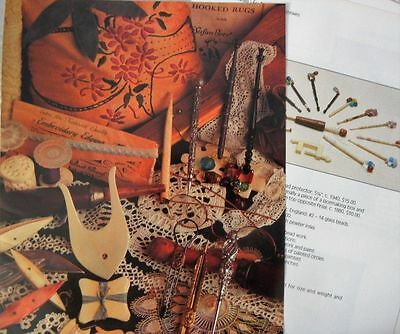 14p History Article + Pics -  Antique Lacemaking Tools and Accessories - Sewing
