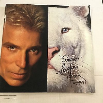 Siegfried and Roy At The Mirage Autographed Program