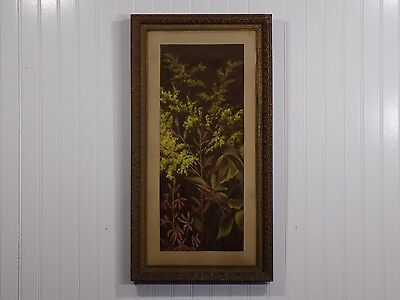 Amazing Antique Original Signed Pastel / Chalk Drawing Art in Gesso Wood Frame