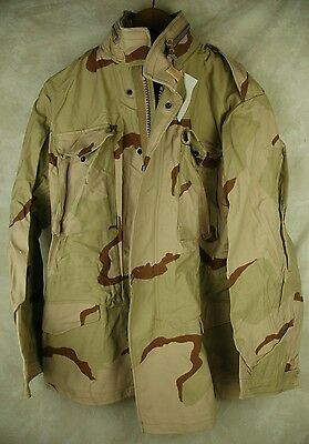 Nwt Genuine Us Army Issue Desert Dcu Camo M65 Field Jacket Coat Small Long