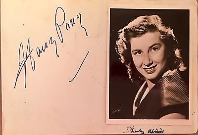 RARE AUTOGRAPHS '40's COWBOY CAL McCORD (CARRY ON ) AND  HARRY PARRY BANDLEADER
