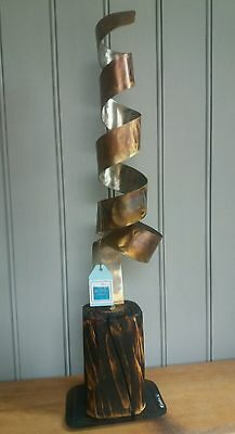 New~ Metal Abstract Art Home Decor Swirl Sculpture Statue Feature Gift Present