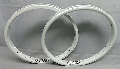 "Pair Of Eclat Bondi Bmx Rims - 36H 20"" - Dirt Jump Street Park Trail Custom"
