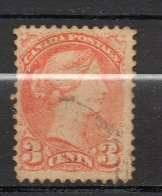 Canada : 1870 3 Cents ( Queen Victoria ) used