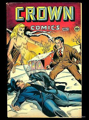 Crown Comics #1 FN/VF 7.0  Incomplete
