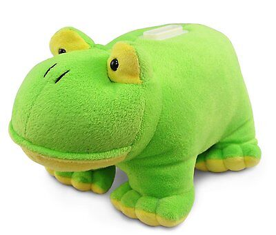"Frog Plush Huggie Piggy Bank Measures 8.5"" x 5"" x 4"" by Puzzled, Inc. Green Frog"